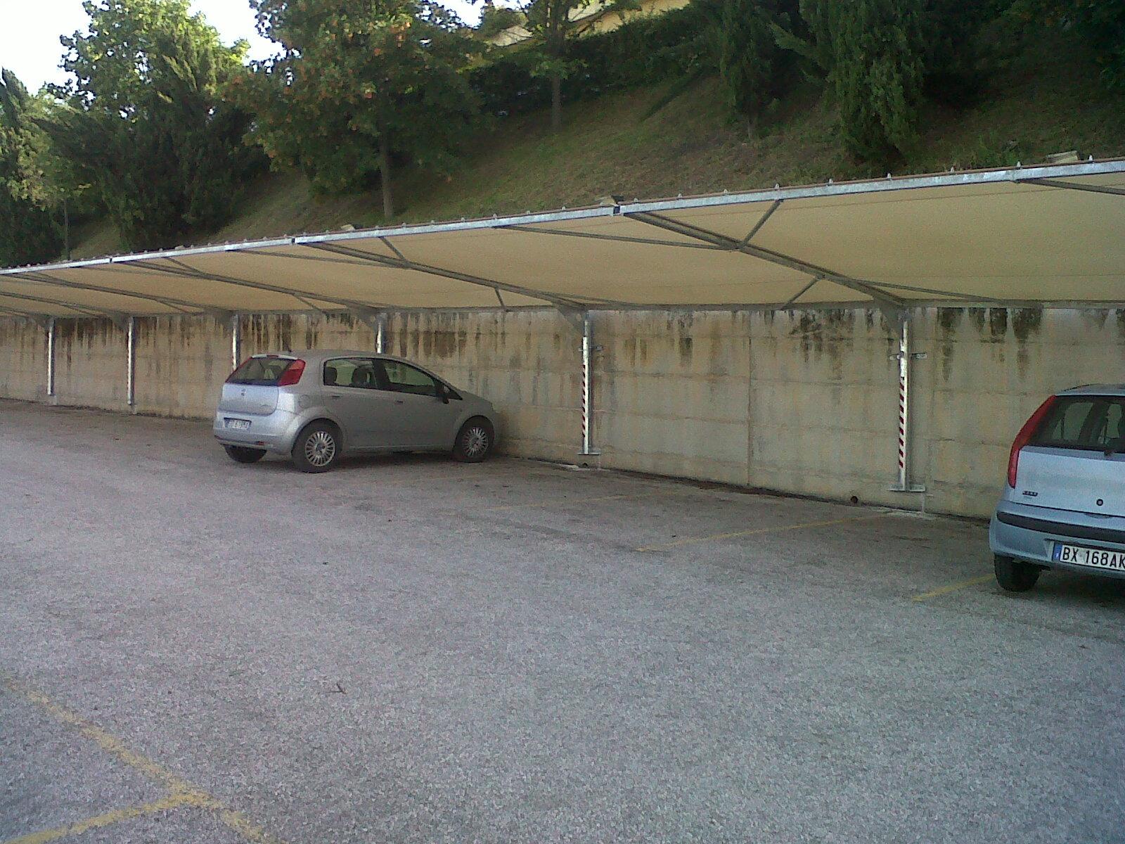 copertura parcheggi per zone montane - B.F. Montaggi